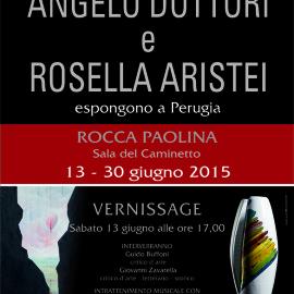 Angelo Dottori e Rosella Aristei alla Rocca Paolina